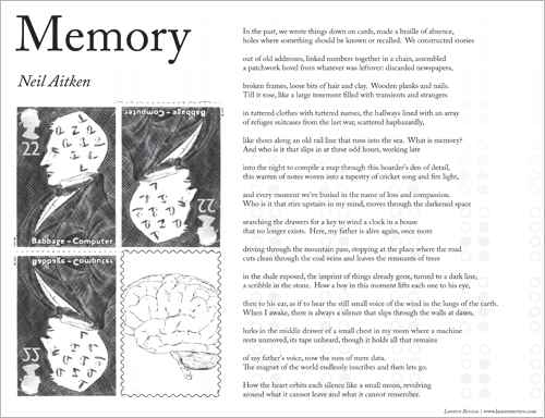 &quot;Memory&quot; by Neil Aitken | Printable Broadside by Melissa R. Sipin
