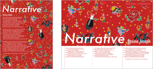 &quot;Narrative&quot; by Janine Joseph | Printable Broadside by Bethany Hana Fong