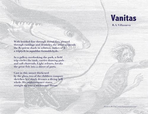 &quot;Vanitas&quot; by R.A. Villanueva | Printable Broadside by Debbie Yee