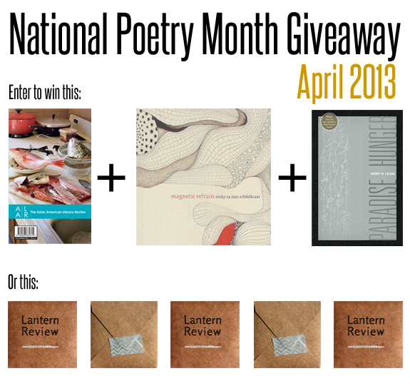 April 2103 Giveaway Post