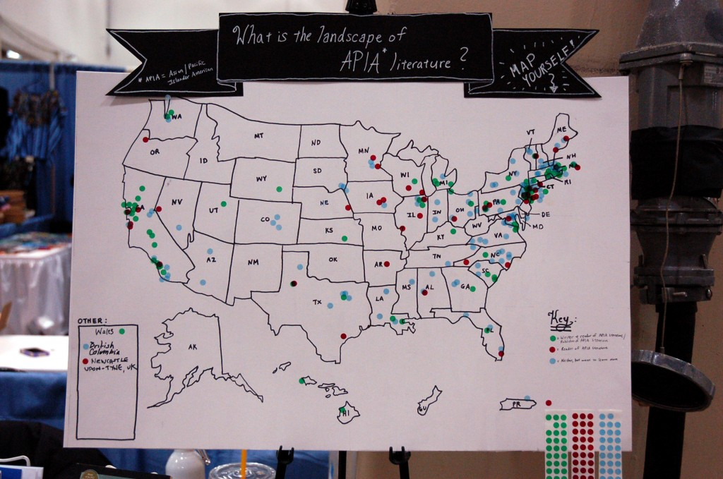 Our crowd-sourced map at AWP 2013.