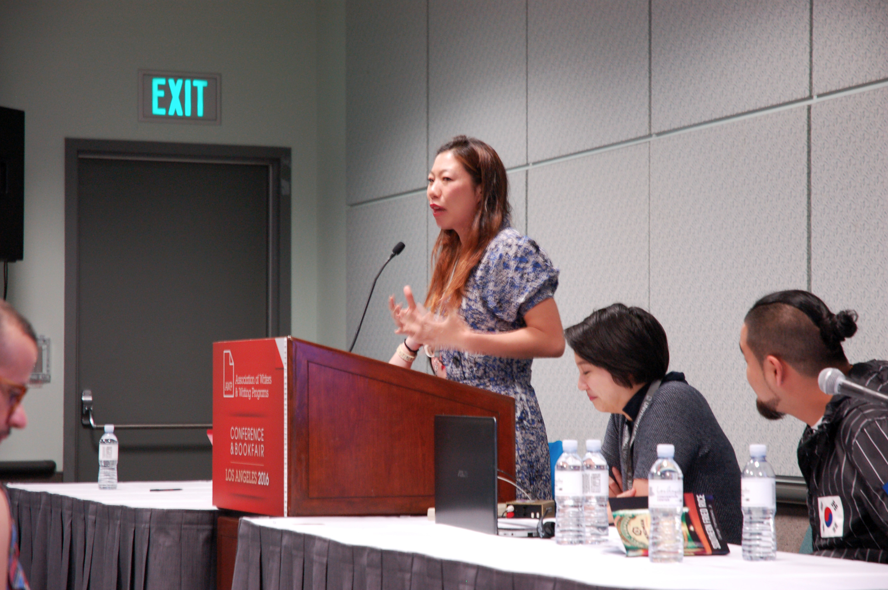 Kristina Wong speaks out about the prison system during HYPHEN's AWP panel