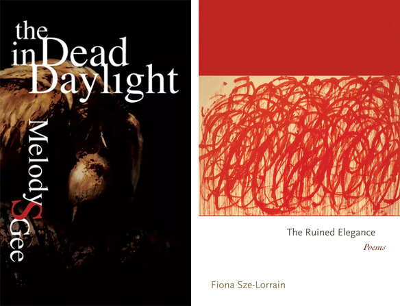 The covers of Melody Gee's THE DEAD IN DAYLIGHT and Fiona Sze-Lorrain's THE RUINED ELEGANCE